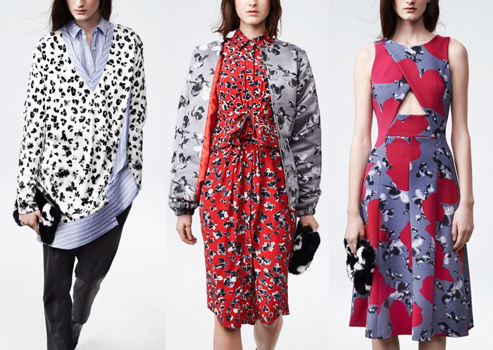 Thakoon - Pre Fall 2014-Micro Pattern – Asymmetric Prints - Simplified Florals – Bold Graphic Repetitions – Simple Form