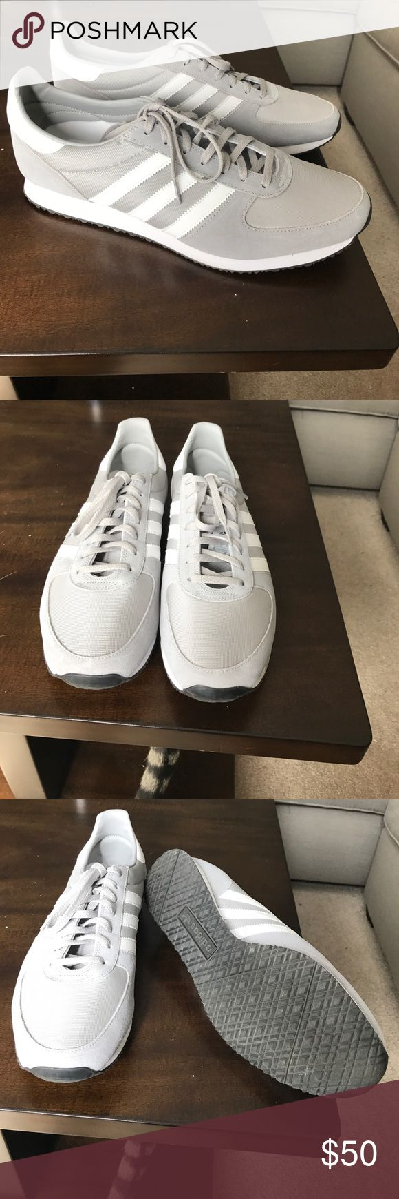 Men's size 13 Adidas ZX Racer Men's 13 grey and white  Adidas ZX racer sneakers in perfect condition only worn once for 2 hours adidas Shoes Sneakers