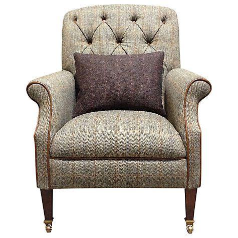 Buy Harris Tweed Flynn Armchair Bracken Bromton Tan