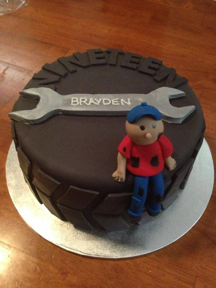 Mechanic cake. 19th Birthday.