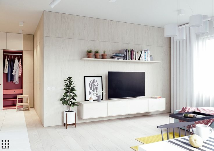 Roohome.com - Applying a Scandinavian apartment design will make your flat looks awesome and charming. This design is suitable for you who have a small family, get yourself and your family feel comfortable as possible to live in. Decorating your apartment with beautiful and cute style designs painting with a soft color ...