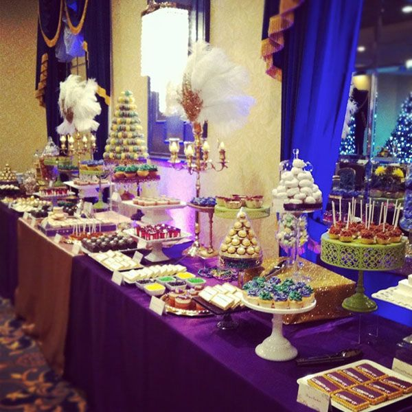 Mardi Gras, Dessert Tables
