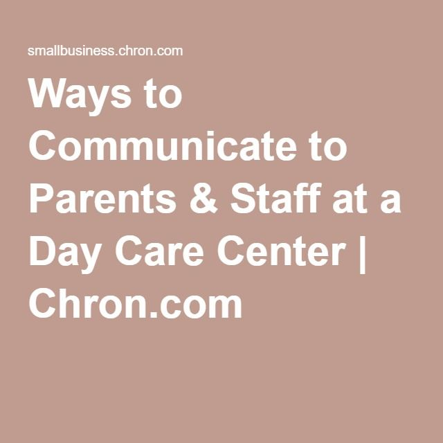 9 best workplace communication images on pinterest business ways to communicate to parents staff at a day care center sciox Choice Image