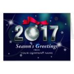 Season's Greetings Custom Corporate Greeting Card