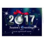 Season's Greetings Custom Corporate Greeting Card