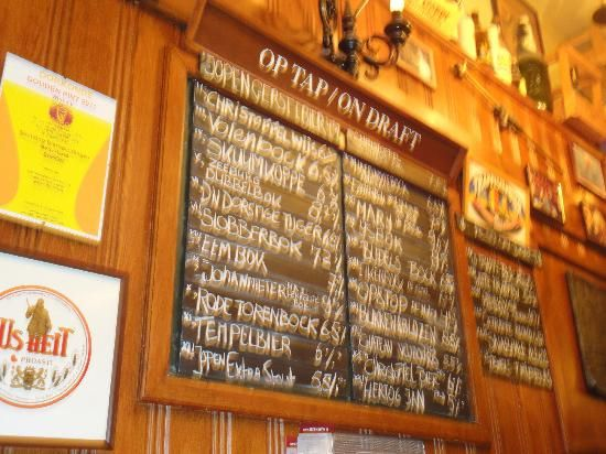 In de Wildeman... A beer lover's paradise, this Amsterdam institution serves literally hundreds of different kinds.