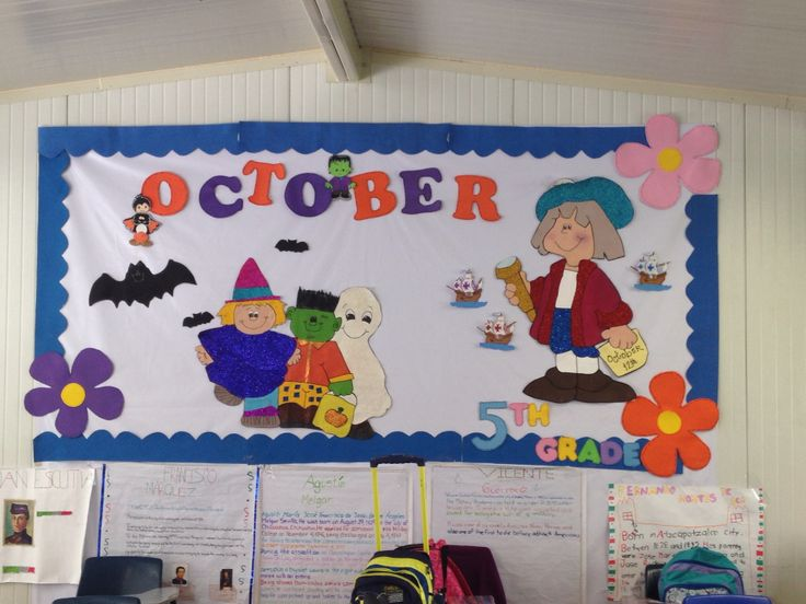 Peri dico mural octubre en pell n preschool pinterest for Amenidades para periodico mural