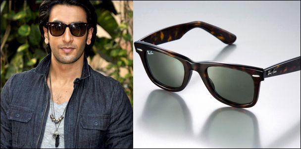Ranveer Singh in Ray-Ban Wayfarer Sunglasses