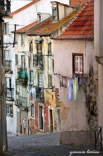 Lisbon , Bairo de alfama, Portugal Love to walk in the narrow streets in this area