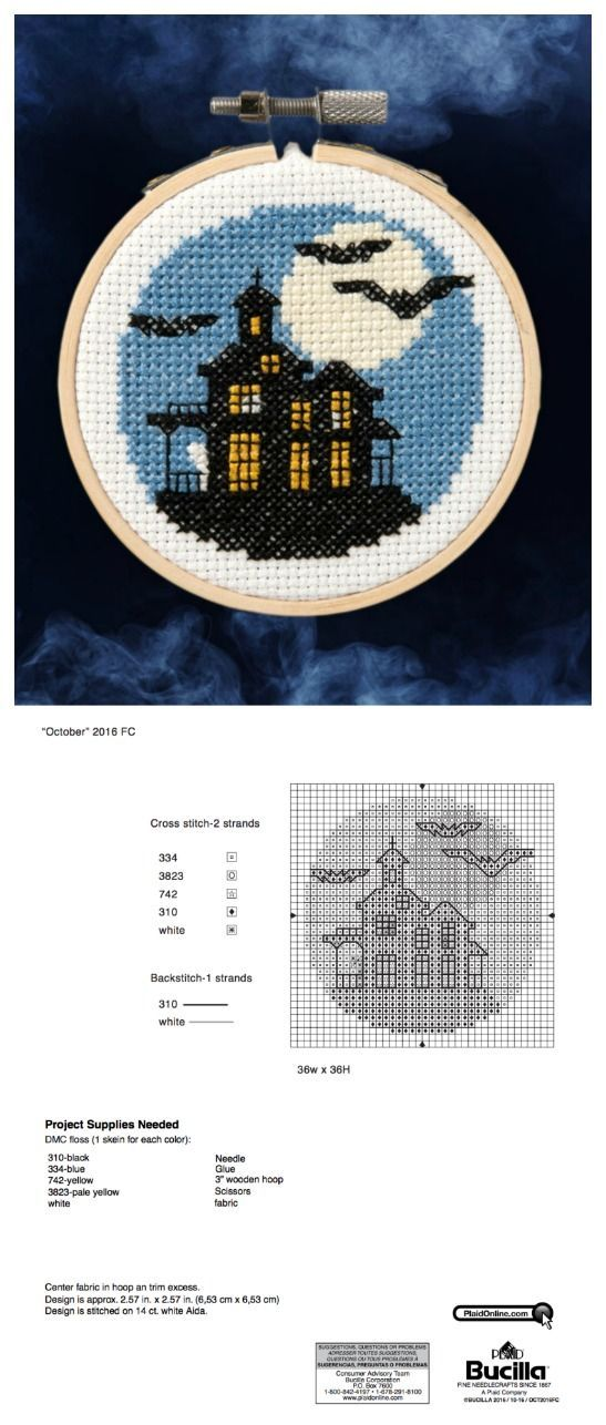 Bucilla Free Halloween Cross Stitch Pattern Get Your Spooky On