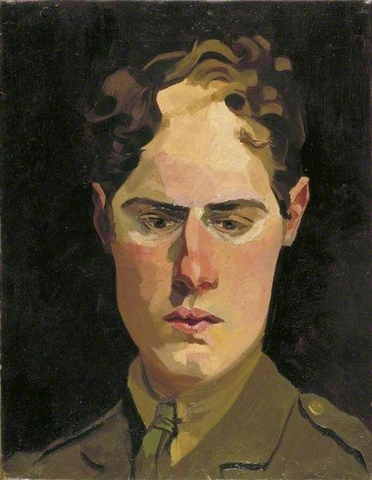 richard carline(1896–1980), self portrait in uniform, 1918. oil on canvas, 45.7 x 34.9 cm. IWM (imperial war museums), uk http://www.bbc.co.uk/arts/yourpaintings/paintings/self-portrait-in-uniform-6885