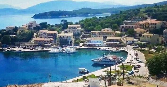 Kassiopi Harbour Kassiopi Corfu Greece Nowadays