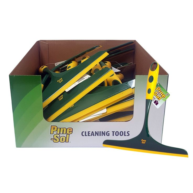 Pine-Sol Window Squeegee (Green/Yellow)