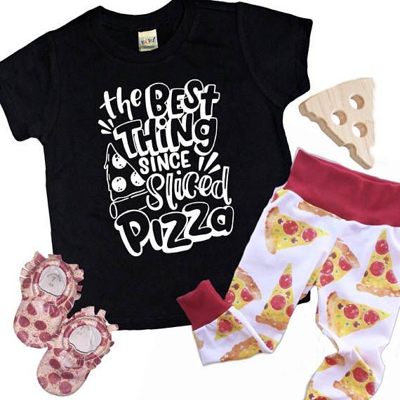 This kids Pizza shirt is perfect gift for the mini foodie in your life! Help your kids stand out in simple trendy kids clothes like this cool graphic tee.