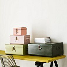 Buy the Extra Large Metal Storage Suitcase at Oliver Bonas. Enjoy free UK standard delivery for orders over £50.