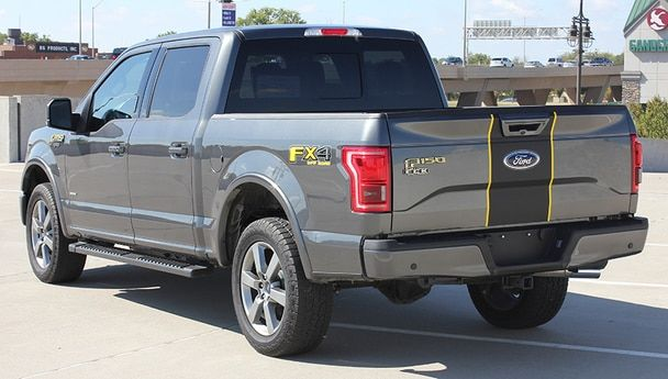 Ford F150 Center Vinyl Wrap Decals Borderline 2015 2020 Ford F150 Ford Trucks Truck Accessories Ford