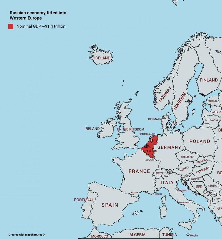 Western map blank europe