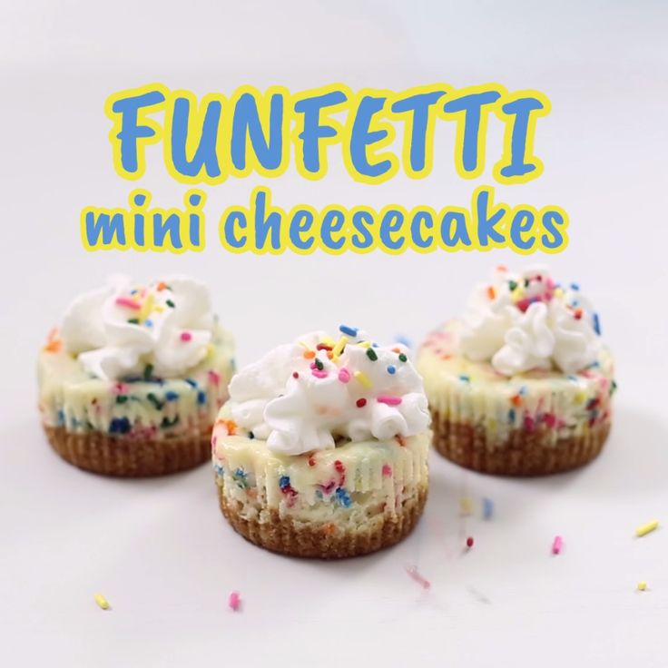 These bite sized cheesecakes are a colorful blast at any party! One small bite, a whole lotta fun.