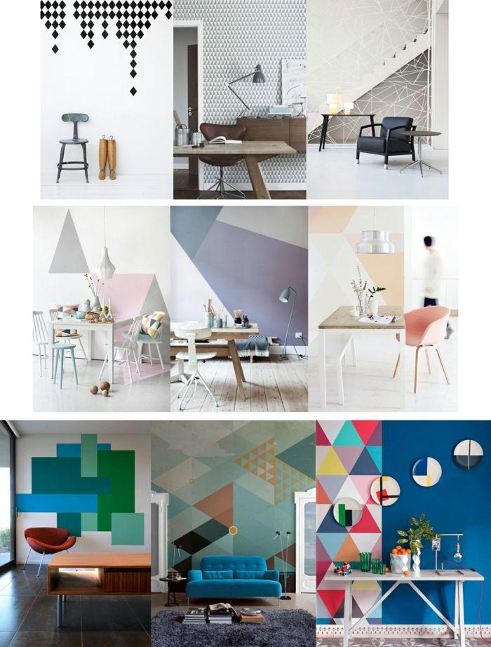 Die besten 25+ Wandgestaltung vierecke Ideen auf Pinterest Faden - wandgestaltung quadrate beispiele