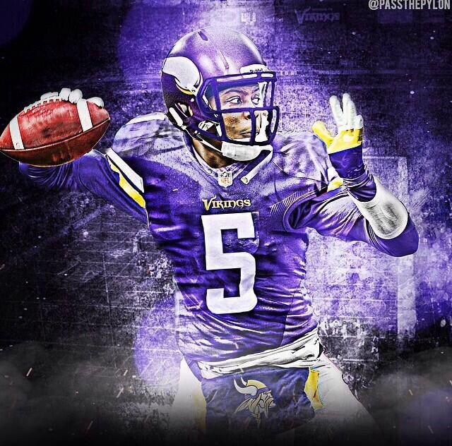 NFL Jersey's Infant Minnesota Vikings Teddy Bridgewater Nike Purple Team Color Game Jersey