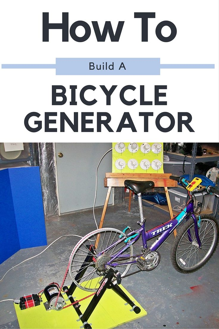 How To Build A Bicycle Generator - Having a manual method of producing power is a great backup in case there is no wind or sun to charge your off the grid batteries in an emergency situation! Get between 75 - 150 watts.