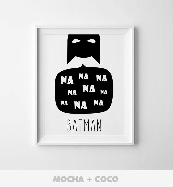 MochaAndCoco su Etsy https://www.etsy.com/it/listing/487598749/na-na-na-batman-poster-stampabile