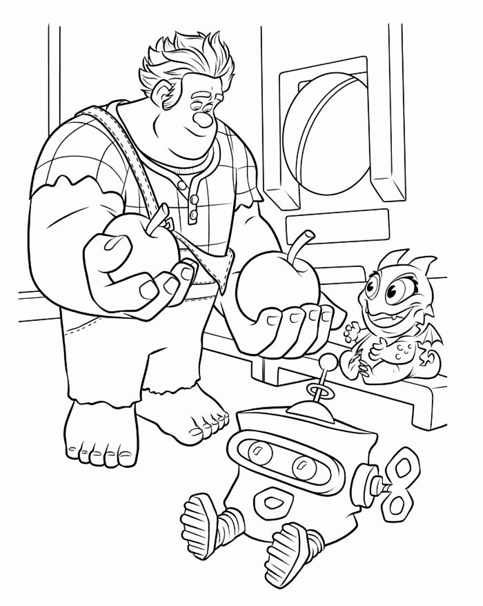 Wreck It Ralph Coloring Page Lovely Wreck It Ralph Coloring Pages Best Coloring Pages For K Disney Coloring Pages Coloring Pages Disney Princess Coloring Pages
