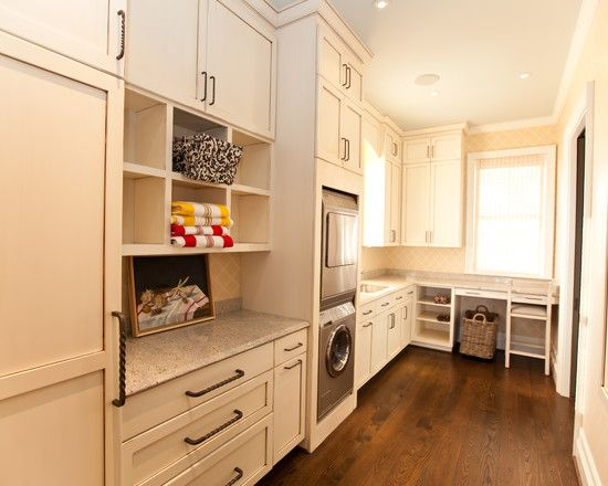 Exciting Ideas On How To Design A Utility Room Using White Cabinet: Outstanding Ideas On How To Design A Utility Room With Silver Washing Machine And White Cabinet Completed With White Storage And Wooden Floor ~ kaisahan.net Contemporary Home Design Inspiration