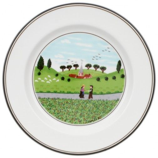 Design Naif Appetizer/Dessert Plate #6 - Boy & Girl 6 3/4 in - Villeroy & Boch