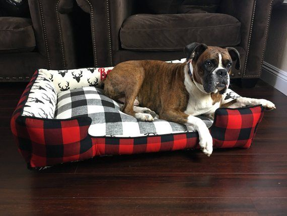 Plaid Dog Or Cat Bed Small Dog Bed Personalized Pet Bed Etsy Dog Beds For Small Dogs Personalized Pet Personalized Dog Beds
