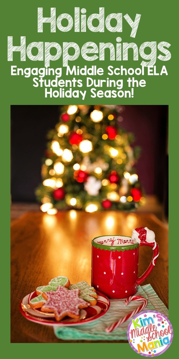 """This blog post includes activities and short story suggestions for engaging middle school ELA students during the holiday seasons. Activities include common core aligned movie questions, color by number activities, and matching activities with lines from well-known Christmas carols. Suggested stories include """"A Christmas Carol"""" and """"The Gift of the Magi""""."""