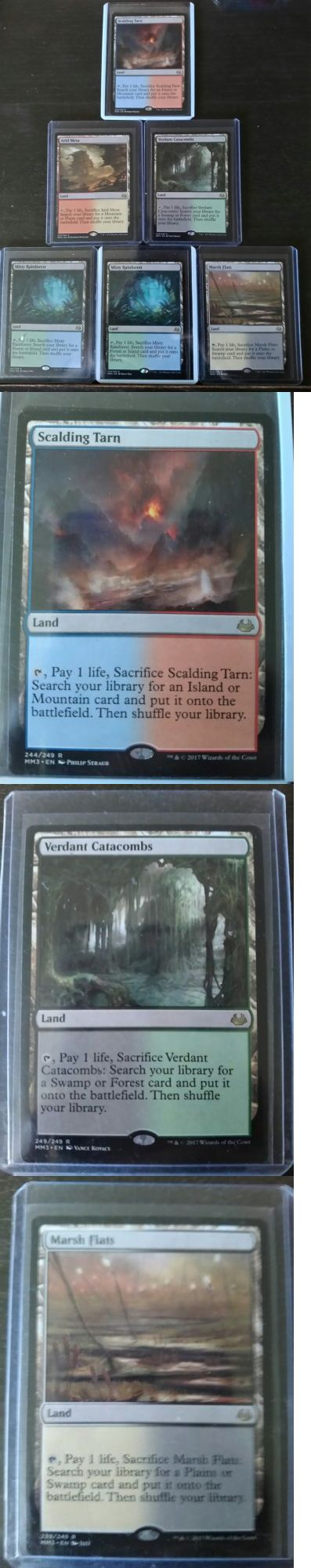 MTG Mixed Card Lots 19113: All 5 Fetch Lands + Extra Magic The Gathering Mm17 Mint! -> BUY IT NOW ONLY: $220 on eBay!