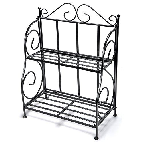 Storage Rack Ispecle 2tier Foldable E For Kitchen Countertop Jars Organizer Shelf Black Most Trusted Retailer