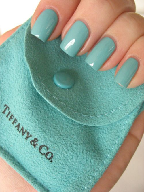 It would help if the nail color was listed... I think it's Essie's Turquoise and Caicos. Could also be Essie's Where's my chauffeur?