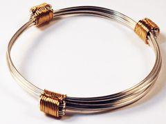 silver and gold elephant hair bracelet