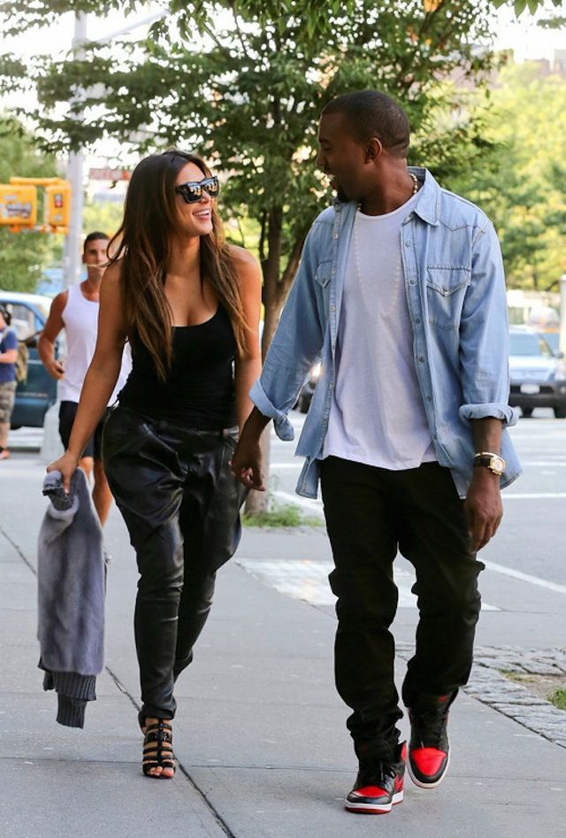 Kanye West wearing Air Jordan 1 Black/Red | Celebrities ...