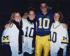 Tom Brady with his sisters during his days at the University of Michigan.