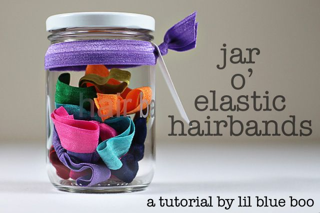 Great blog!: Hair Bands, Elastic Hairband, Jars Crafts, Christmas Gifts Ideas, Cute Ideas, Girls Gifts, Hair Ties, Cool Ideas, Birthday Gifts