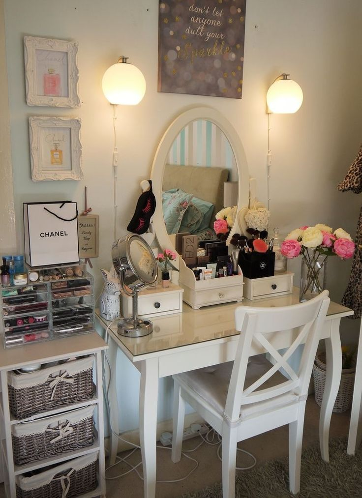 Best 25 diy dressing tables ideas on pinterest makeup vanity tables diy small bedroom and - Hemnes ikea dressing table ...