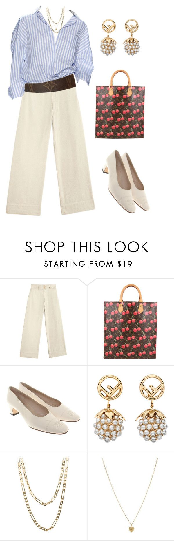 """Untitled #2038"" by lucyshenton ❤ liked on Polyvore featuring Louis Vuitton, Chanel, Fendi, Cartier and Susan Caplan Vintage"