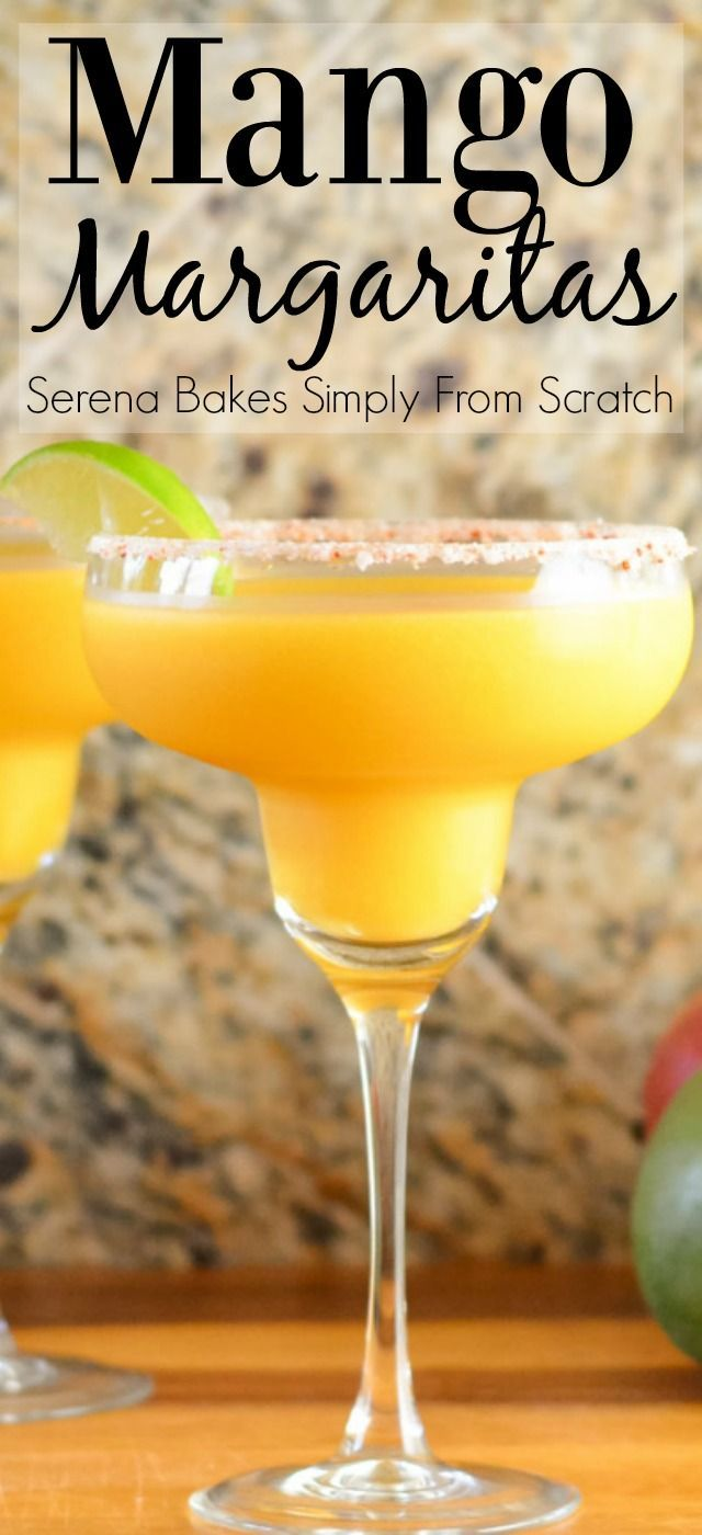 The secret to great Mango Margaritas from Serena Bakes Simply From Scratch.