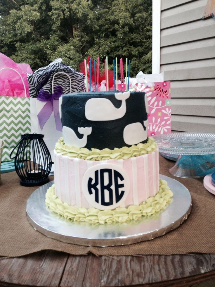 Preppy Party Ideas Preppy Birthday Cake Vineyard Vines