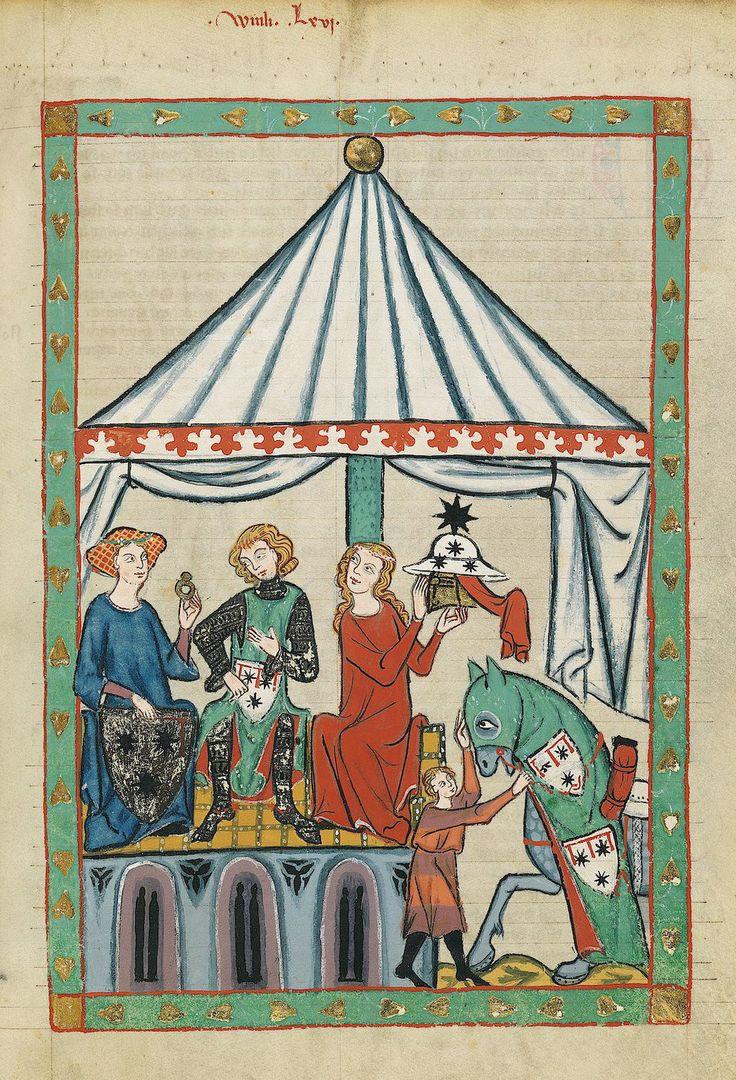 Tapisseries murales -medievale codex Manesse : Décorations murales par doudoupaloma