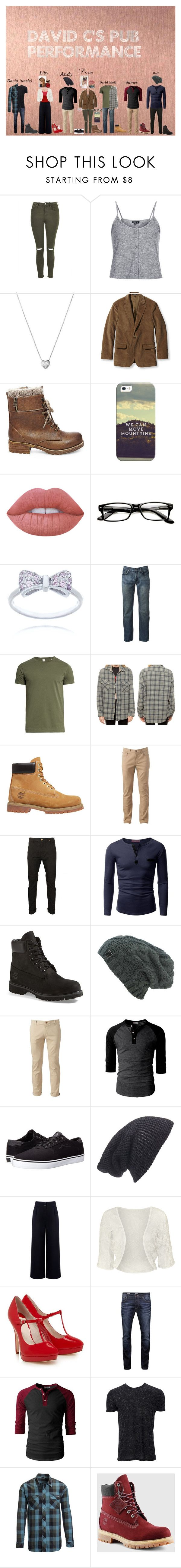 """""""Pub Outfits"""" by directioner-girly on Polyvore featuring Topshop, Links of London, L.L.Bean, Steve Madden, Casetify, Lime Crime, Urban Pipeline, Sørensen, Timberland and Doublju"""