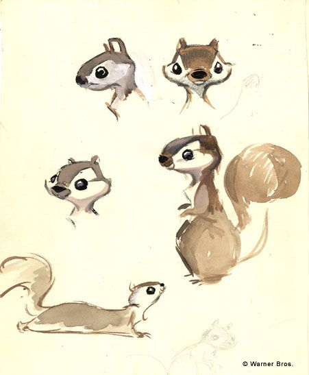 The amazing Chuck Jones I CHARACTER DESIGN REFERENCES | Find more at https://www.facebook.com/CharacterDesignReferences if you're looking for: #art #character #design #model #sheet #illustration #best #concept #animation #drawing #archive #library #reference #anatomy #traditional #draw #development #artist #how #to #tutorial #squirrel