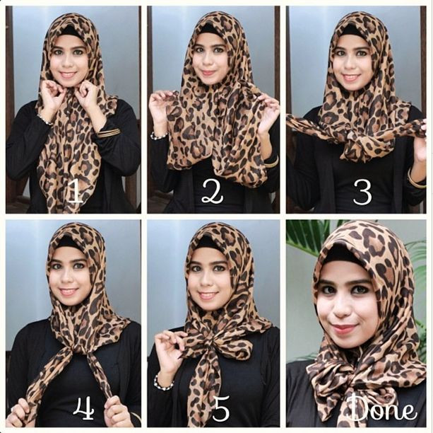 Ribbon-Leopard Hijab Tutorial | My Hijab