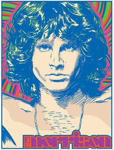 Jim Morrison The Doors Pop Art Print 13 x by RedRobotCreative