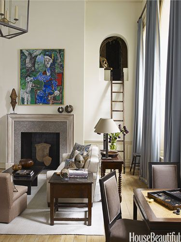 """For the crazy ladder upto the secret room!( Credit: House beautiful - a ladder that leads to a secret room that designer Christopher Maya found, all sealed up, and turned into a """"fantasy room"""")"""