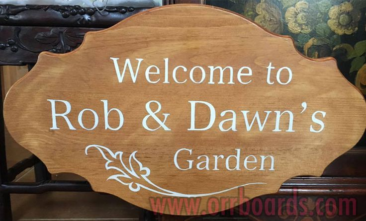 Orr Boards: Hand-painted, custom one-of-a-kind wooden boards!  Thoughtful art, perfect for gifts or beautiful decor that matches your unique style and chic taste!  www.orrboards.com    Welcome To Rob & Dawn's Garden  painting, wood, quote, garden, produce, fresh