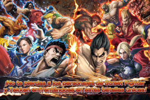 Pelea hasta el final con los personajes más fuertes de Street Fighter y Tekken en escenarios 3D con gráficos muy atractivos
